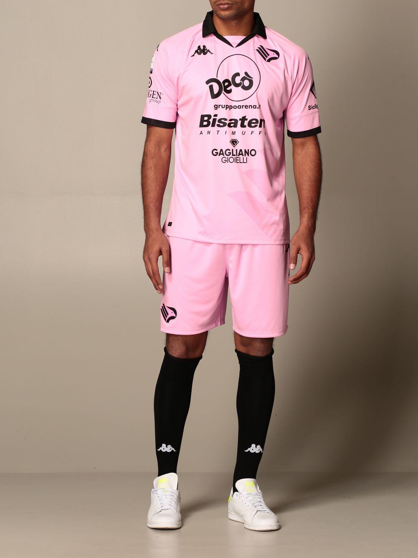 T-shirt Palermo: Maglia kombat Palermo con sponsor e patch lega serie c in tessuto interlock rosa 2