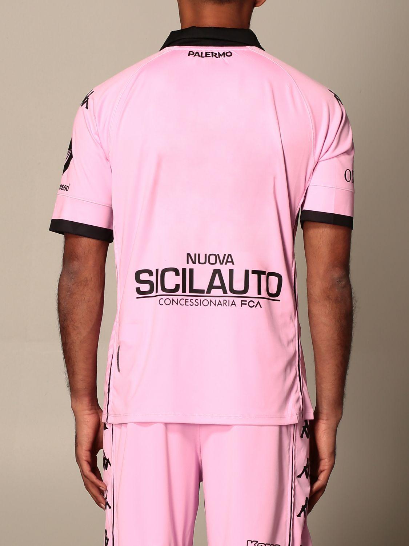 T-shirt Palermo: Maglia kombat Palermo con sponsor e patch lega serie c in tessuto interlock rosa 3