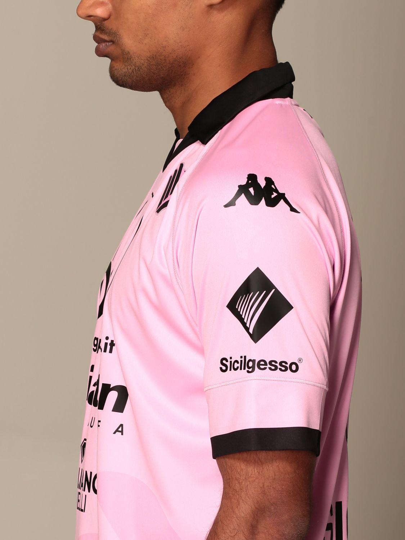 T-shirt Palermo: Maglia kombat Palermo con sponsor e patch lega serie c in tessuto interlock rosa 4