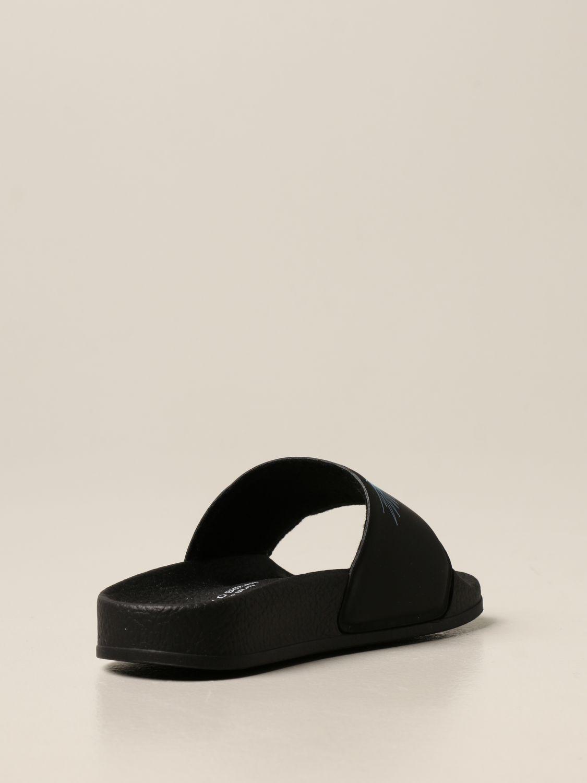 Shoes Marcelo Burlon: Marcelo Burlon rubber sandal with bird feathers black 3