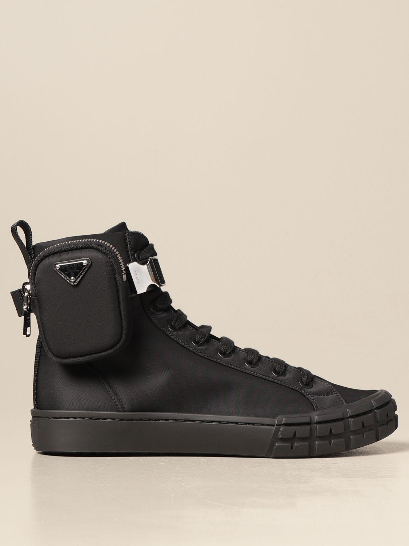 Sneakers Prada: Sneakers Prada in gabardine re-nylon con mini contenitore nero 1