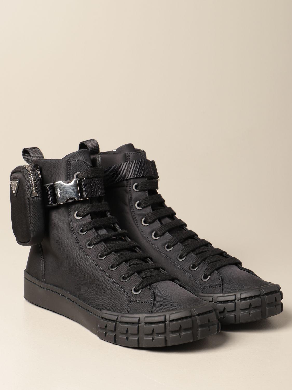 Sneakers Prada: Sneakers Prada in gabardine re-nylon con mini contenitore nero 2