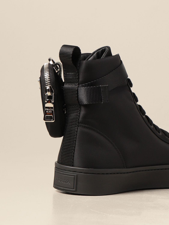 Sneakers Prada: Sneakers Prada in gabardine re-nylon con mini contenitore nero 3