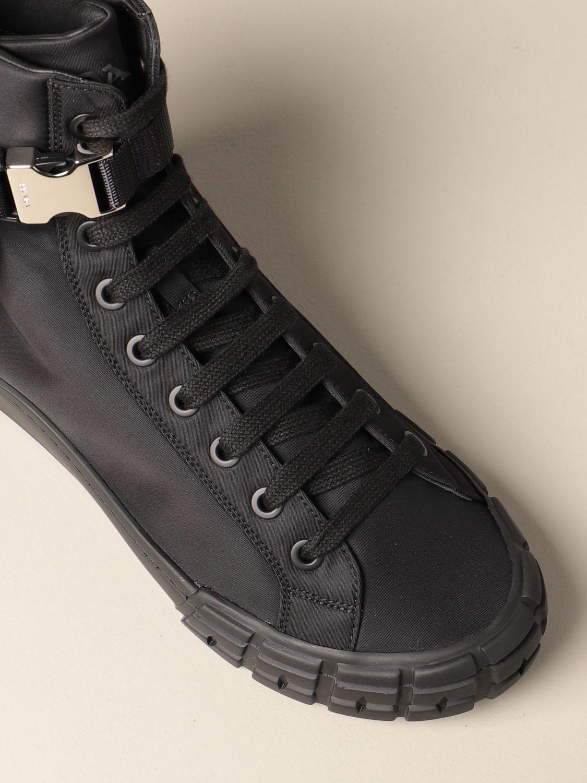 Sneakers Prada: Sneakers Prada in gabardine re-nylon con mini contenitore nero 4