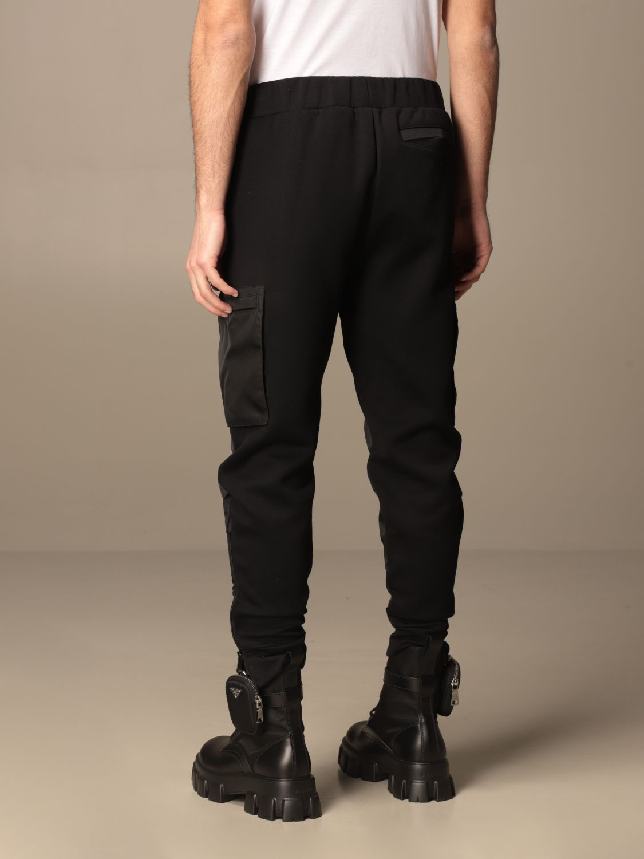 Pantalone Prada: Pantalone jogging Prada in gabardine di nylon e cotone nero 2