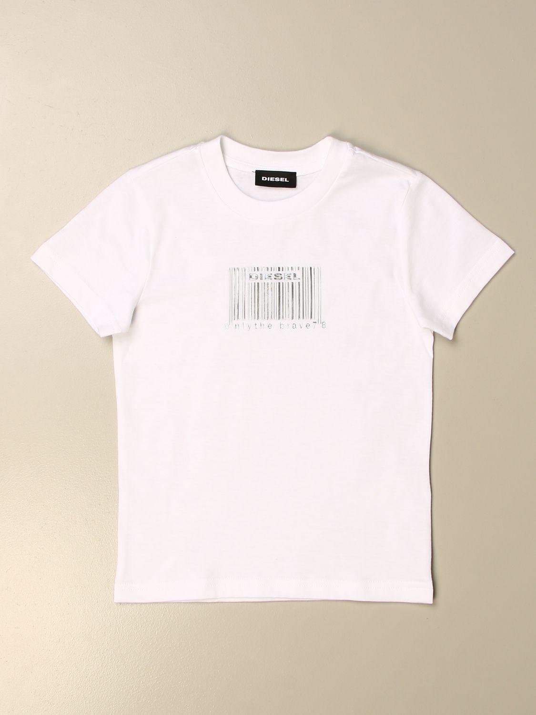 Camiseta Diesel: Jersey niños Diesel blanco 1