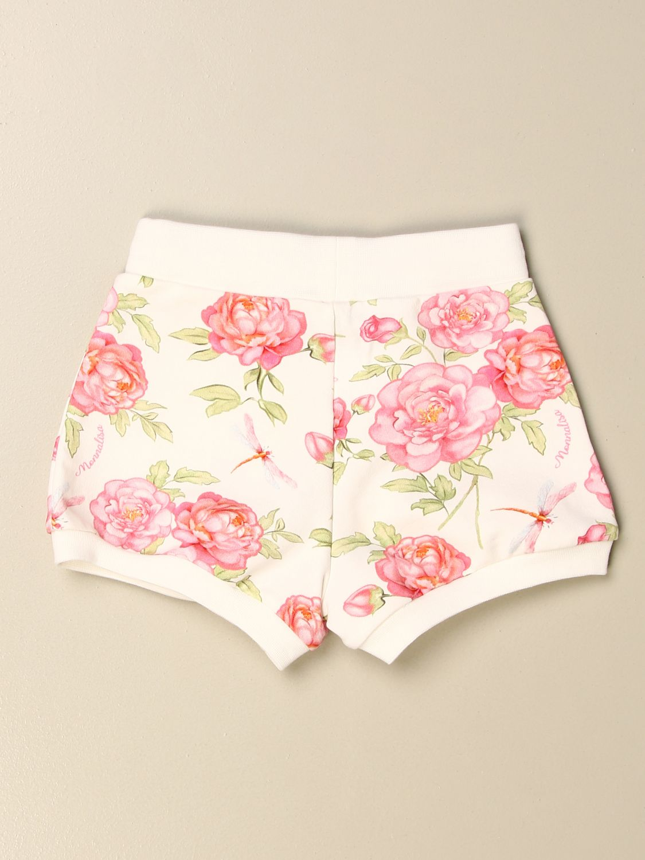 Pantaloncini Monnalisa: Pantaloncino Monnalisa in cotone a fantasia floreale panna 2