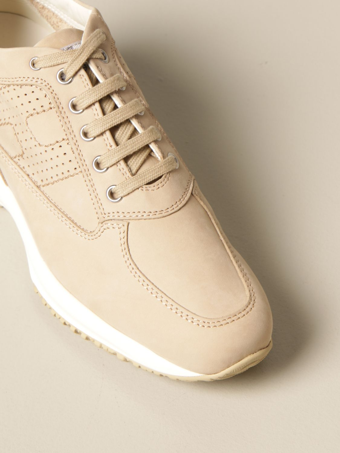 Interactive Hogan sneakers in nubuck with rounded H