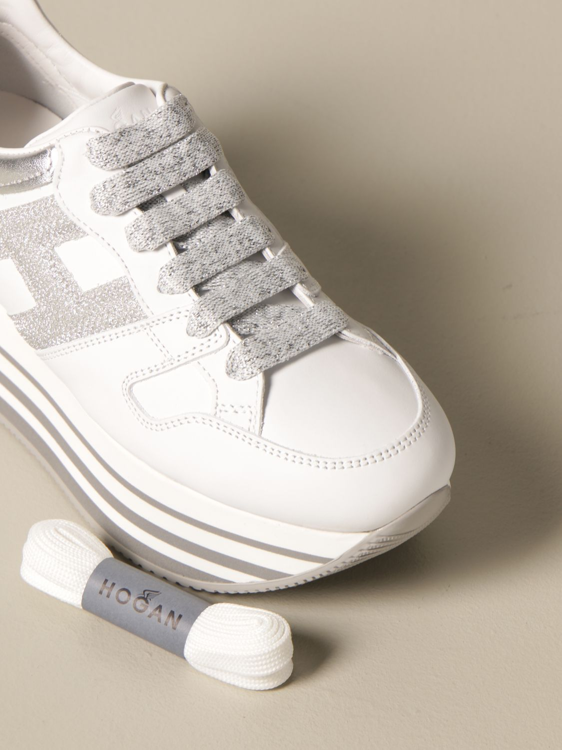 Maxi platform H283 Hogan sneakers in leather
