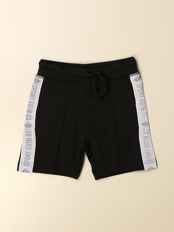 Pantaloncino Dsquared2 Junior: Pantaloncino jogging Dsquared2 Junior con logo nero 1