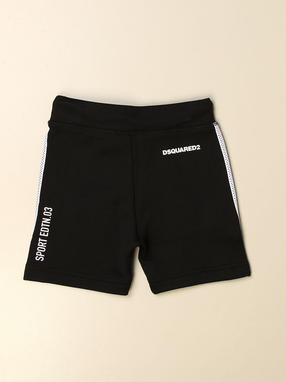 Pantaloncino Dsquared2 Junior: Pantaloncino jogging Dsquared2 Junior con logo nero 2