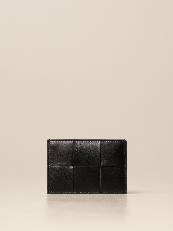 Wallet Bottega Veneta: Bottega Veneta credit card holder in woven leather black 1