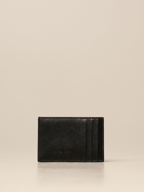 Wallet Bottega Veneta: Bottega Veneta credit card holder in woven leather black 2