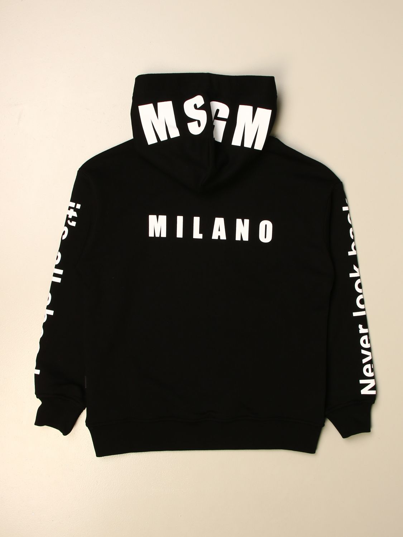 Sweater Msgm Kids: Msgm Kids hooded sweatshirt with logo black 2