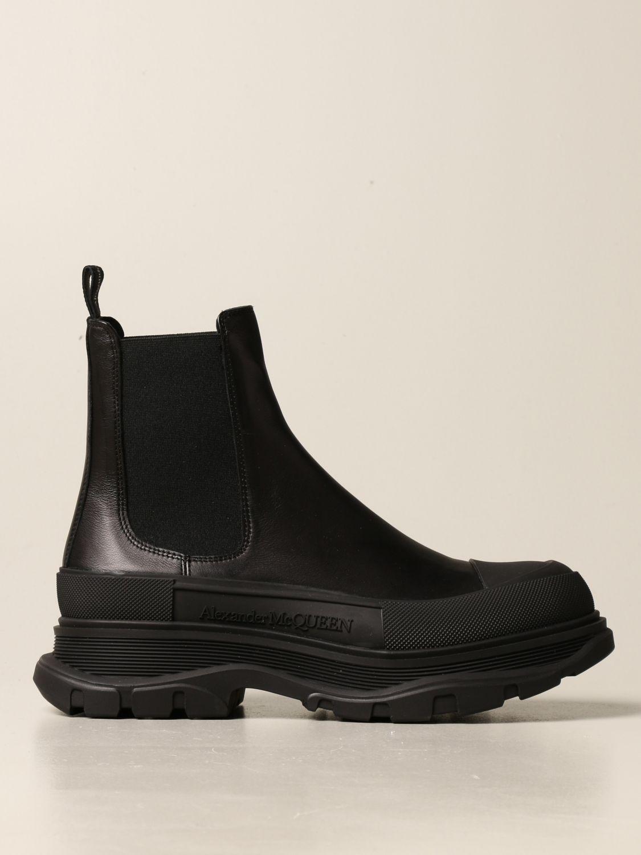 Boots Alexander Mcqueen: Alexander McQueen leather ankle boot black 1