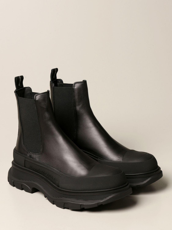 Boots Alexander Mcqueen: Alexander McQueen leather ankle boot black 2