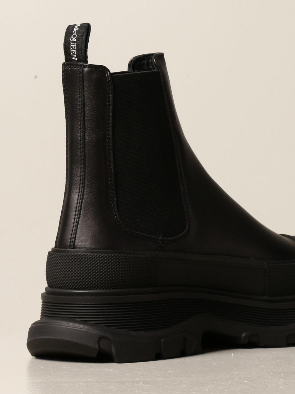 Boots Alexander Mcqueen: Alexander McQueen leather ankle boot black 3