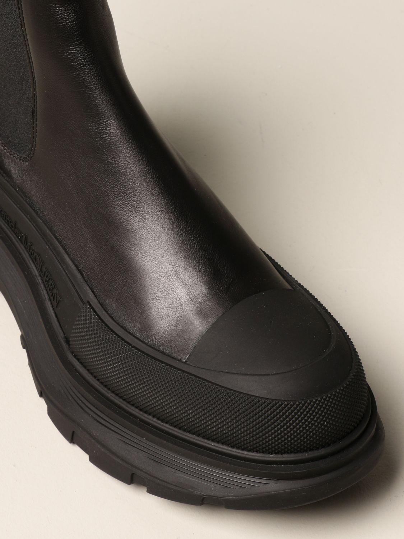 Boots Alexander Mcqueen: Alexander McQueen leather ankle boot black 4