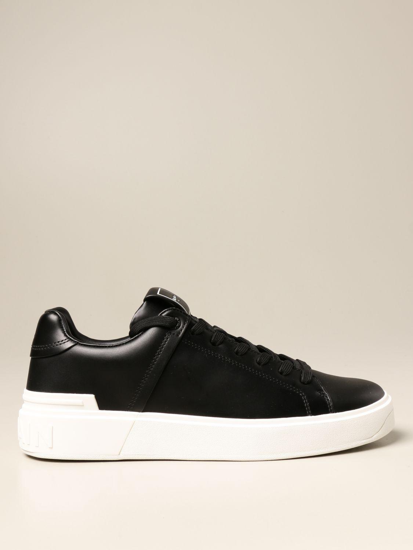 Trainers Balmain: B-Court Balmain leather trainers black 1 1