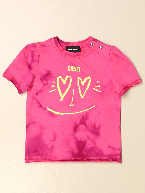 Camiseta Diesel: Camiseta niños Diesel rosa 1