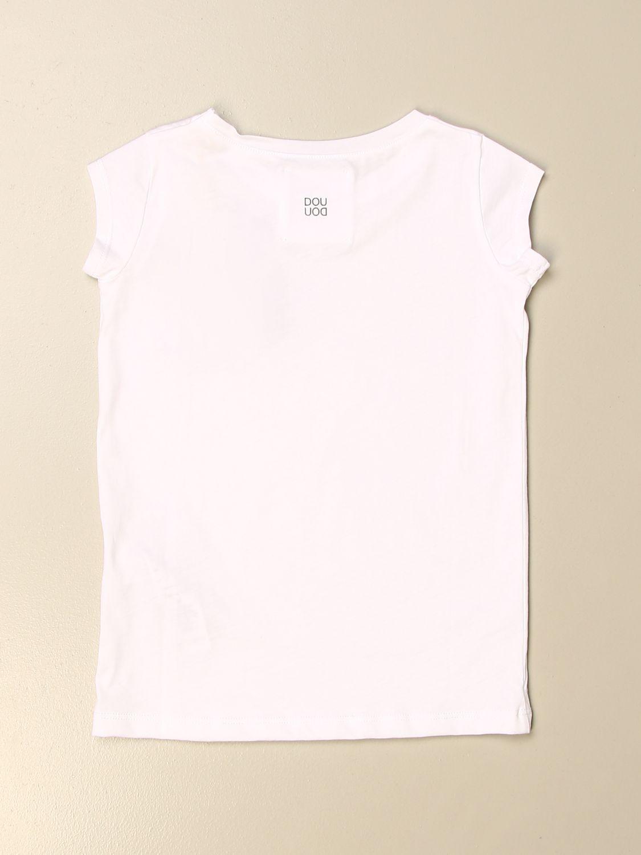 T-shirt Douuod: T-shirt basic Douuod in cotone bianco 2