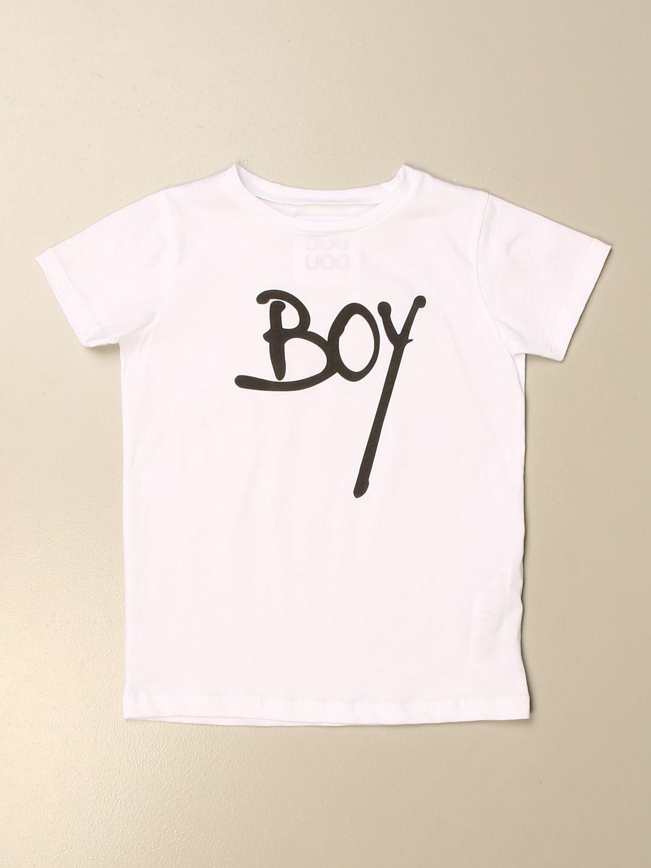 T-shirt Douuod: T-shirt Douuod in cotone con stampa boy bianco 1
