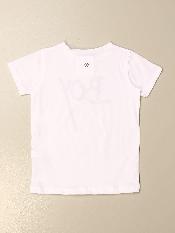 T-shirt Douuod: T-shirt Douuod in cotone con stampa boy bianco 2