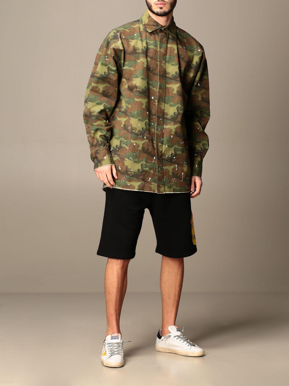 Camicia Palm Angels: Camicia Palm Angels camouflage con logo militare 2
