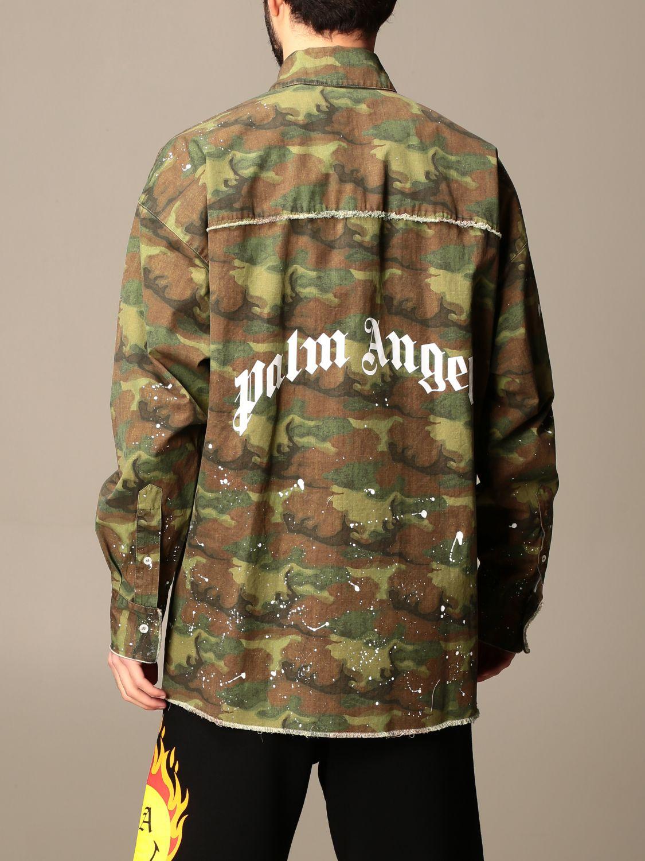 Camicia Palm Angels: Camicia Palm Angels camouflage con logo militare 3