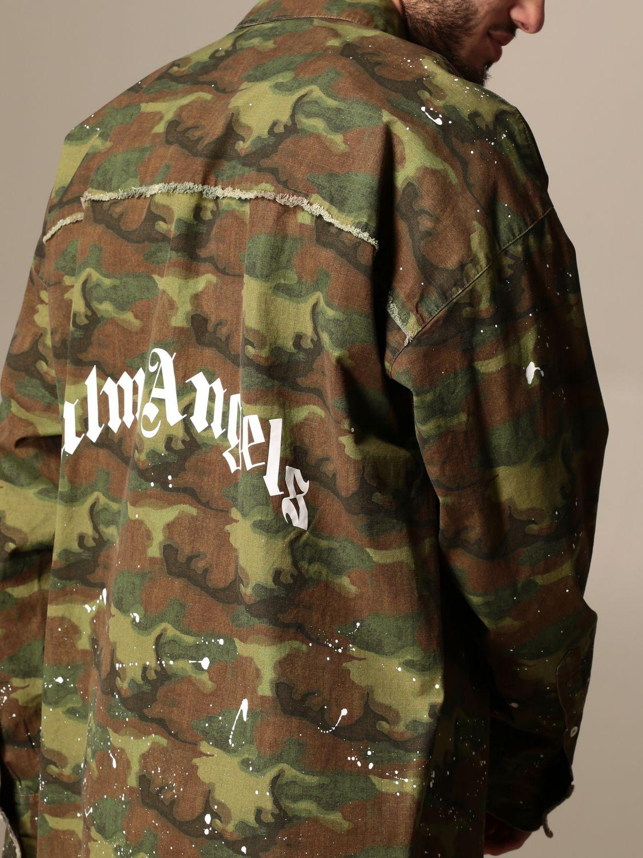 Camicia Palm Angels: Camicia Palm Angels camouflage con logo militare 4