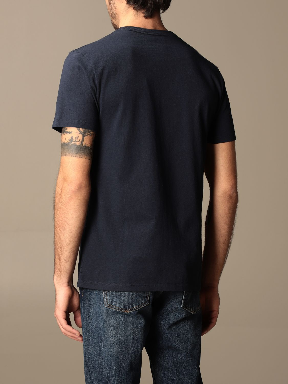 T-shirt Maison Kitsuné: T-shirt Maison Kitsuné in cotone con stampa Parisien blue 2