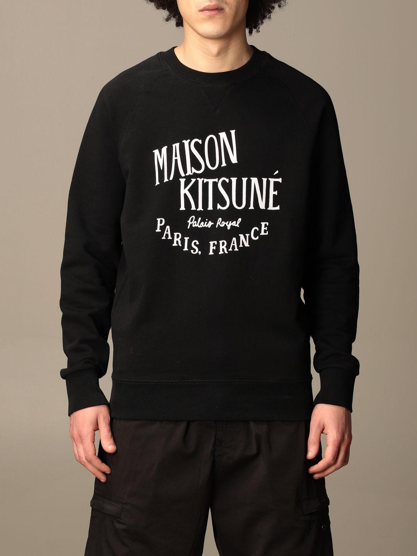 Felpa Maison Kitsuné: Felpa Maison Kitsuné in cotone con logo nero 1