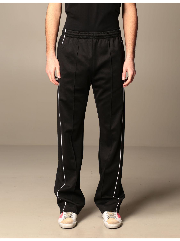 Trousers Marcelo Burlon: Marcelo Burlon cotton jogging trousers with logo black 1