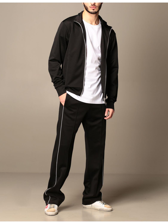 Trousers Marcelo Burlon: Marcelo Burlon cotton jogging trousers with logo black 2