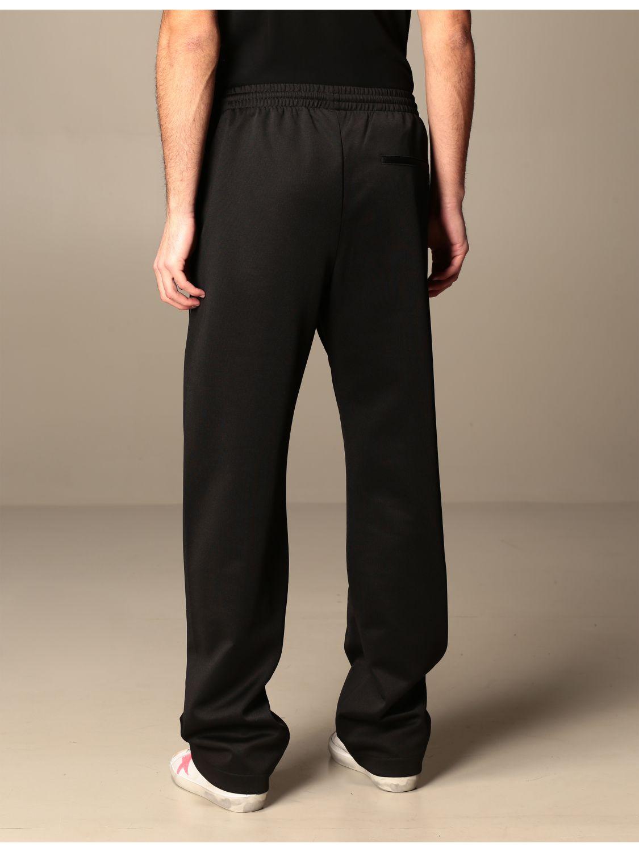 Trousers Marcelo Burlon: Marcelo Burlon cotton jogging trousers with logo black 3