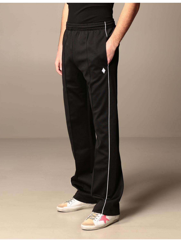Trousers Marcelo Burlon: Marcelo Burlon cotton jogging trousers with logo black 4