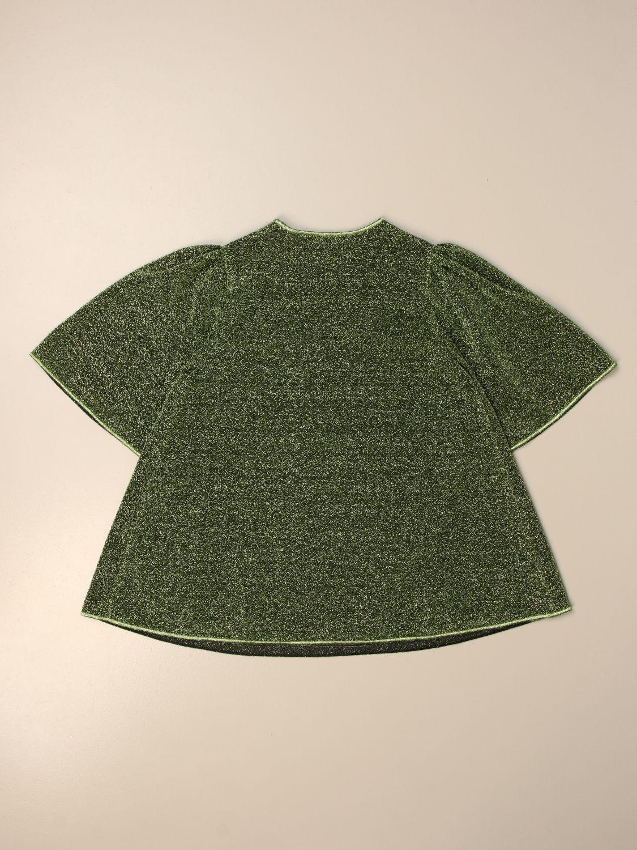 Maglia Oseree: Maglia a v Oseree in tessuto lurex verde 2