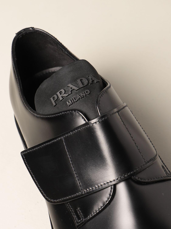 Scarpe stringate Prada: Scarpa Prada in pelle spazzolata nero 4