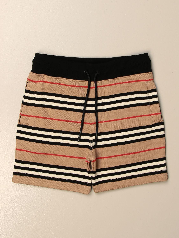 短裤 Burberry: Burberry 复古条纹棉质短裤 米色 1
