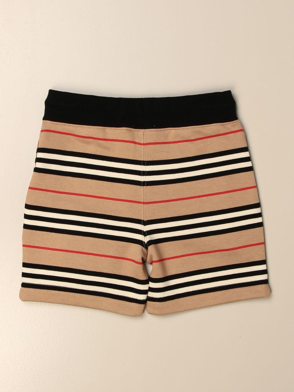 短裤 Burberry: Burberry 复古条纹棉质短裤 米色 2