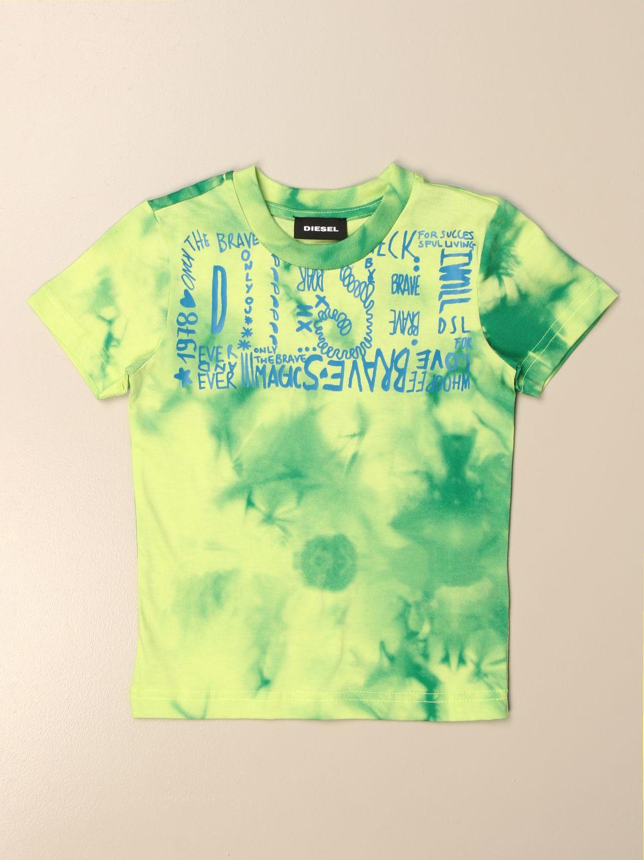 Camiseta Diesel: Camiseta niños Diesel verde 1