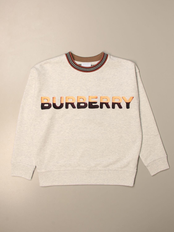 Jumper Burberry: Burberry cotton sweatshirt with sweets logo print grey 1