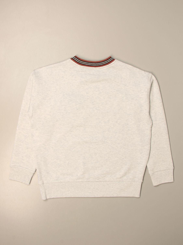 Jumper Burberry: Burberry cotton sweatshirt with sweets logo print grey 2