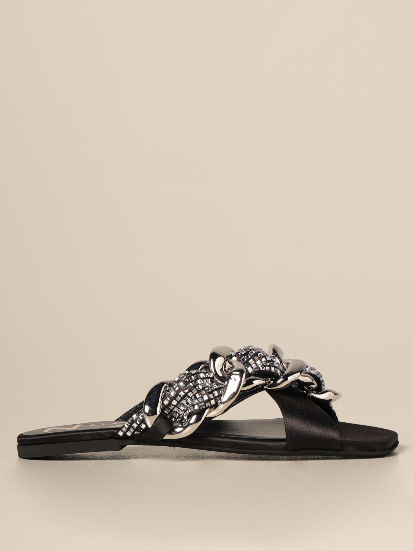 Flache Sandalen N° 21: Flache sandalen damen N° 21 schwarz 1