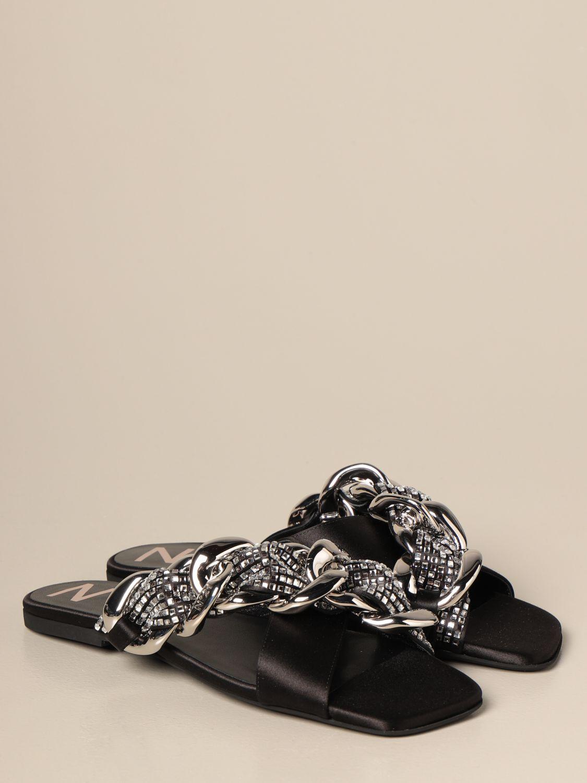 Flache Sandalen N° 21: Flache sandalen damen N° 21 schwarz 2