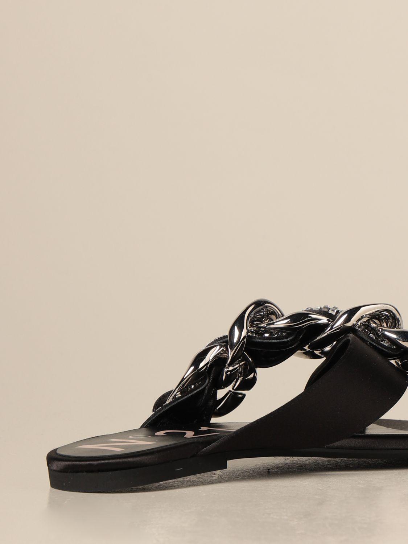 Flache Sandalen N° 21: Flache sandalen damen N° 21 schwarz 3