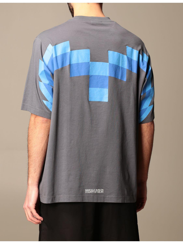 Camiseta Marcelo Burlon: Camiseta hombre Marcelo Burlon azul oscuro 3