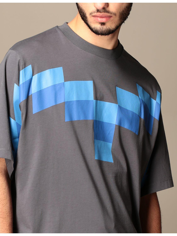 Camiseta Marcelo Burlon: Camiseta hombre Marcelo Burlon azul oscuro 5