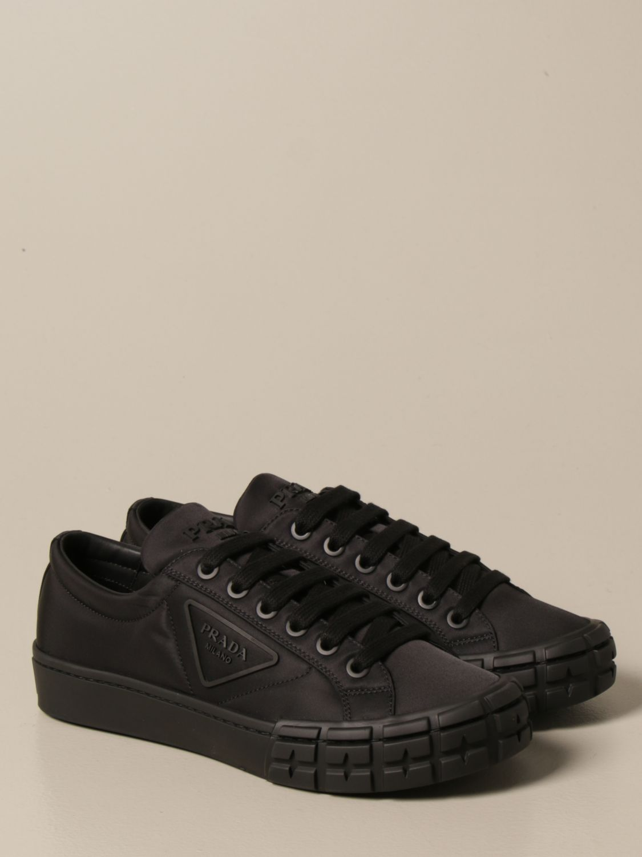 Sneakers Prada: Sneakers Prada in gabardine re-nylon con logo triangolare nero 2