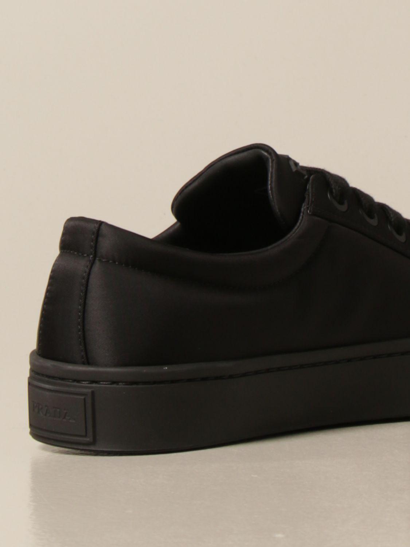 Sneakers Prada: Sneakers Prada in gabardine re-nylon con logo triangolare nero 3